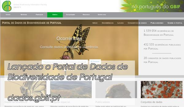 Portal de dados de biodiversidade de Portugal
