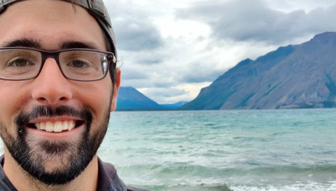 Vaughn Shirey, a Ph.D student at Georgetown University, is a winner of the 2020 GBIF Young Researchers Awards. Photo courtesy of Vaughn Shirey